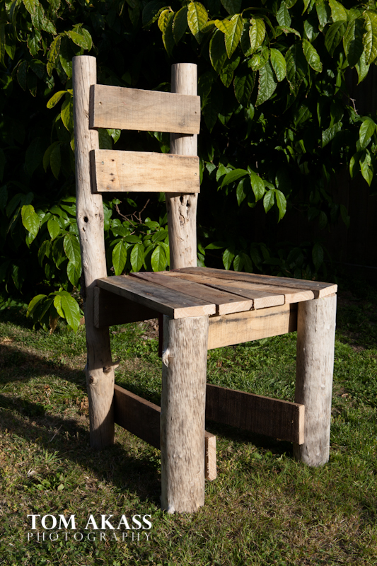 Pallet and driftwood chair